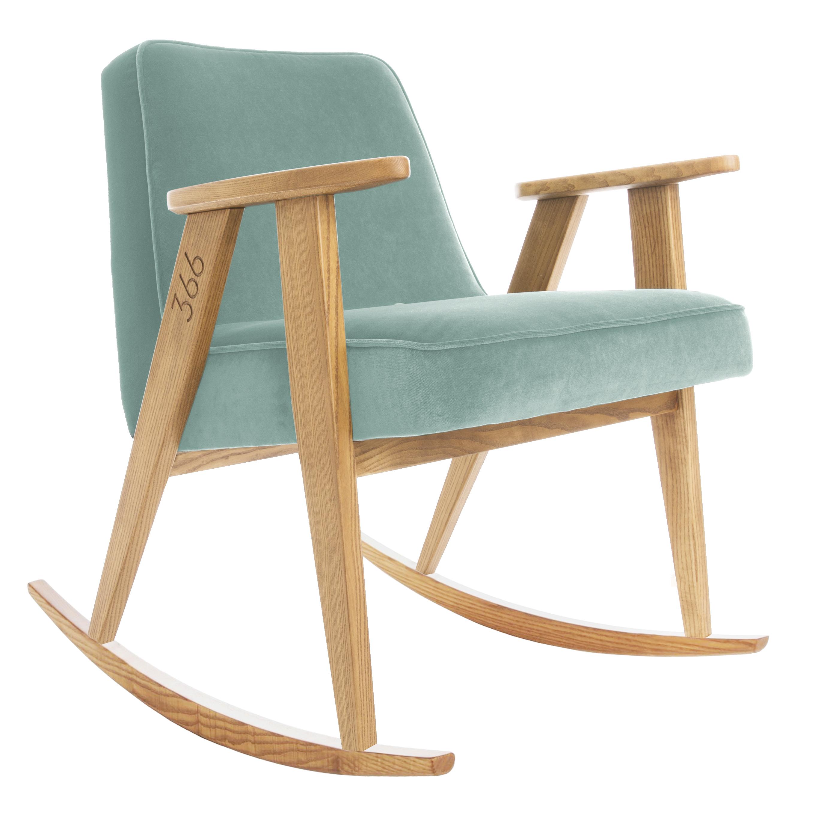 sessel, mobel, wohnen, SESSEL 366 PLUS VELVET - 366 Concept   366 rocking chair   Velvet 16 Mint   Oak