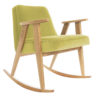armchairs, furniture, rocking-chairs, interior-design, 366 ROCKING CHAIR VELVET - 366 Concept   366 rocking chair   Velvet 17 Lemonade   Oak 100x100