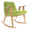armchairs, furniture, rocking-chairs, interior-design, 366 ROCKING CHAIR VELVET - 366 Concept   366 rocking chair   Velvet 18 Light Green   Oak 100x100