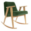 armchairs, furniture, rocking-chairs, interior-design, 366 ROCKING CHAIR VELVET - 366 Concept   366 rocking chair   Velvet 19 Bottle Green   Oak 100x100