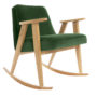 , 366 ROCKING CHAIR VELVET - 366 Concept   366 rocking chair   Velvet 19 Bottle Green   Oak 90x90
