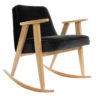 armchairs, furniture, rocking-chairs, interior-design, 366 ROCKING CHAIR VELVET - 366 Concept   366 rocking chair   Velvet 20 Black   Oak 100x100
