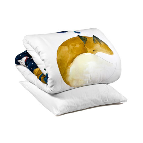 , KIDS BED LINEN SLEEPING FOX - fox packshot 470x470