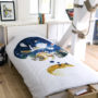 , KIDS BED LINEN SLEEPING FOX - lis 1 90x90