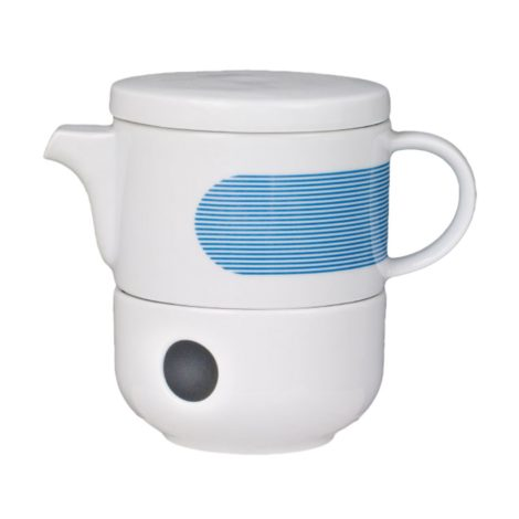 , TEA POT WITH WARMER NEW ATELIER | BLUE - newatelier blue imbryk z podgrzewaczem 470x470