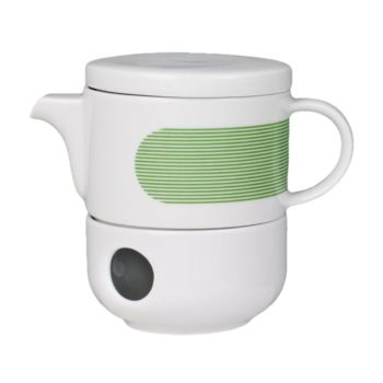 , TEA POT WITH WARMER NEW ATELIER | GREEN - newatelier green imbryk z podgrzewaczem 350x350