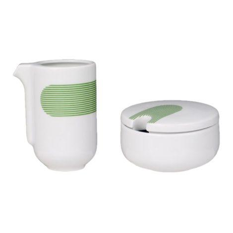 porzellan_und_keramik, wohnen, sets, hochzeitsgeschenke, greenery, porzellan-andere, MILCH UND ZUCKER NEW ATELIER | GRÜN - newatelier green mleko i cukier 470x470