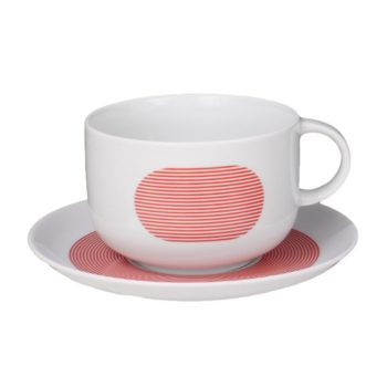 , TASSE MIT UNTERTASSE NEW ATELIER | ROT - newatelier red filiżanka 350x350
