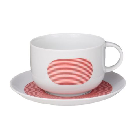 , TASSE MIT UNTERTASSE NEW ATELIER | ROT - newatelier red filiżanka 470x470