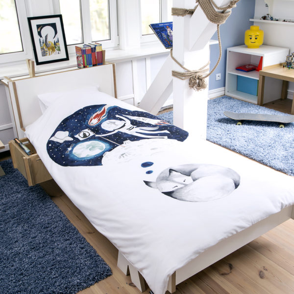 KIDS BED LINEN SLEEPING WOLF