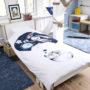 , KIDS BED LINEN SLEEPING WOLF - wilk 1 90x90