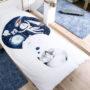 , KIDS BED LINEN SLEEPING WOLF - wilk 2 90x90