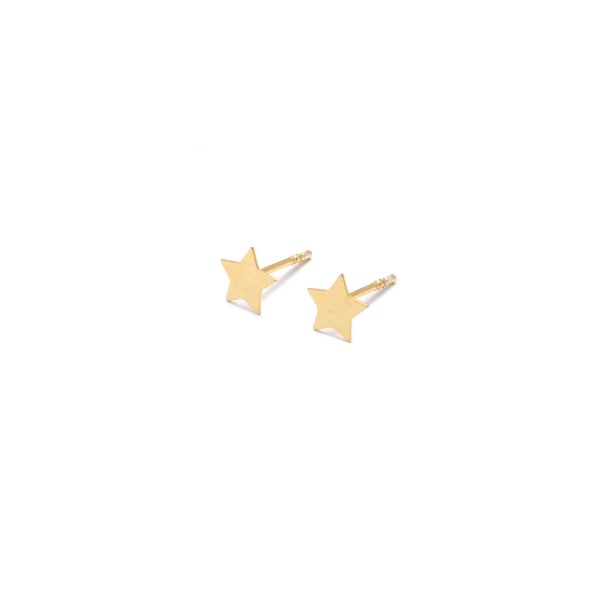 schmuck, ohrringe, OHRRINGE STELLA | VERGOLDET - kolczyki zlocone stella