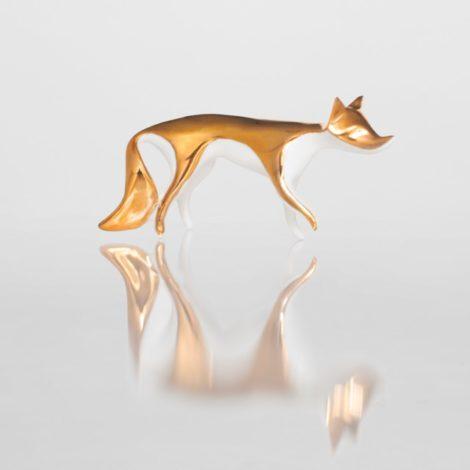 , GOLDEN FOX FIGURINE - lisek zloty4 470x470