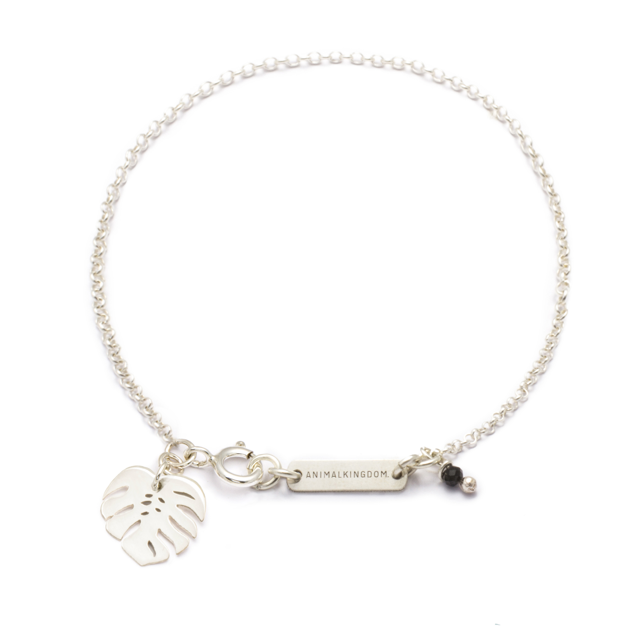 jewellery, braclets, BRACELET MONSTERA | SILVER - b sr monstera