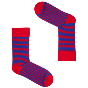 bekleidung-en, socks, clothes-accessories, SOCKS YOGA PINK - Red Blue Stripes 350x350