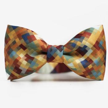 sale-en, bekleidung-en, bow-ties, clothes-accessories, BOW TIE MUSTARD PIXEL - Mustard Pixel 350x350