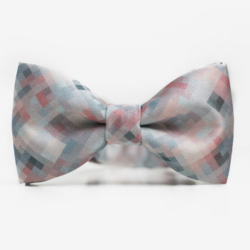 bekleidung-en, bow-ties, clothes-accessories, BOW TIE TERRAZZO - Peach Mint Pixel 350x350