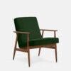 , LOUNGE SESSEL FOX | VELVET - 366 Concept Fox Armchair W03 Velvet Bottle Green 100x100