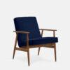 , LOUNGE SESSEL FOX | VELVET - 366 Concept Fox Armchair W03 Velvet Indigo 100x100