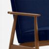 , LOUNGE SESSEL FOX | VELVET - 366 Concept Fox Armchair W03 Velvet Indigo detal 100x100