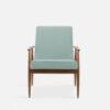 , LOUNGE SESSEL FOX | VELVET - 366 Concept Fox Armchair W03 Velvet Mint front 100x100