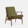 , LOUNGE SESSEL FOX | VELVET - 366 Concept Fox Armchair W03 Velvet Olive 100x100