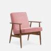 , LOUNGE SESSEL FOX | VELVET - 366 Concept Fox Armchair W03 Velvet Powder Pink 100x100