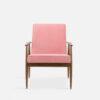, LOUNGE SESSEL FOX | VELVET - 366 Concept Fox Armchair W03 Velvet Powder Pink front 100x100