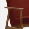 , LOUNGE SESSEL FOX | VELVET - 366 Concept Fox Armchair W03 Velvet Red Brick detal 100x100