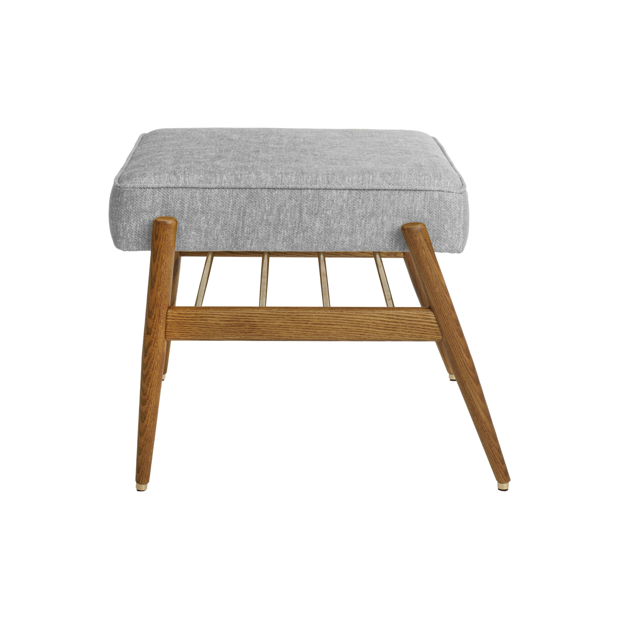Fox Footrest LOFT Silver Dark Oak