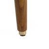 armchairs, furniture, interior-design, footrests, FOOTREST FOX | VELVET - Fox Footstool LOFT Mustard Dark Oak2 100x100