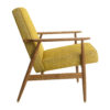 sessel, mobel, wohnen,  - Fox Lounge Chair LOFT Mustard Dark Oak2 100x100