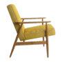 , LOUNGE SESSEL FOX I LOFT - Fox Lounge Chair LOFT Mustard Dark Oak2 90x90