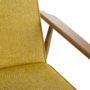 , LOUNGE SESSEL FOX I LOFT - Fox Lounge Chair LOFT Mustard Dark Oak3 90x90