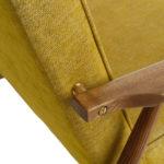 sessel, mobel, wohnen, LOUNGE SESSEL FOX I LOFT - Fox Lounge Chair LOFT Mustard Dark Oak5 150x150