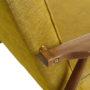 , LOUNGE SESSEL FOX I LOFT - Fox Lounge Chair LOFT Mustard Dark Oak5 90x90