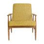 , LOUNGE SESSEL FOX I LOFT - Fox Lounge Chair LOFT Mustard Dark Oak6 90x90