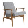 sessel, mobel, wohnen, LOUNGE SESSEL FOX TWEED - Fox Lounge Chair TWEED Grey Dark Oak1 100x100