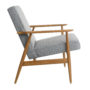 , LOUNGE CHAIR FOX | TWEED - Fox Lounge Chair TWEED Grey Dark Oak2 90x90