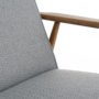 , LOUNGE CHAIR FOX | TWEED - Fox Lounge Chair TWEED Grey Dark Oak4 90x90