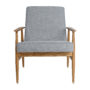 , LOUNGE CHAIR FOX | TWEED - Fox Lounge Chair TWEED Grey Dark Oak6 90x90
