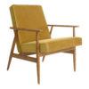 sessel, mobel, wohnen, LOUNGE SESSEL FOX   VELVET - Fox Lounge Chair VELVET Mustard Dark Oak 100x100