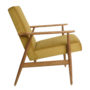 , LOUNGE SESSEL FOX | VELVET - Fox Lounge Chair VELVET Mustard Dark Oak1 90x90