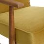 , LOUNGE SESSEL FOX | VELVET - Fox Lounge Chair VELVET Mustard Dark Oak3 90x90