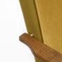 , LOUNGE SESSEL FOX | VELVET - Fox Lounge Chair VELVET Mustard Dark Oak4 90x90