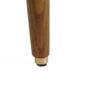 , LOUNGE SESSEL FOX | VELVET - Fox Lounge Chair VELVET Mustard Dark Oak5 90x90