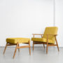 , FOOTREST FOX | LOFT - Mood Fox Footstool LOFT Mustard 90x90