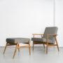 , LOUNGE SESSEL FOX | LOFT - Mood Fox Lounge Chair Loft Grey 90x90