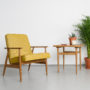 , LOUNGE SESSEL FOX I LOFT - Mood Fox Lounge Chair Loft Mustard 90x90